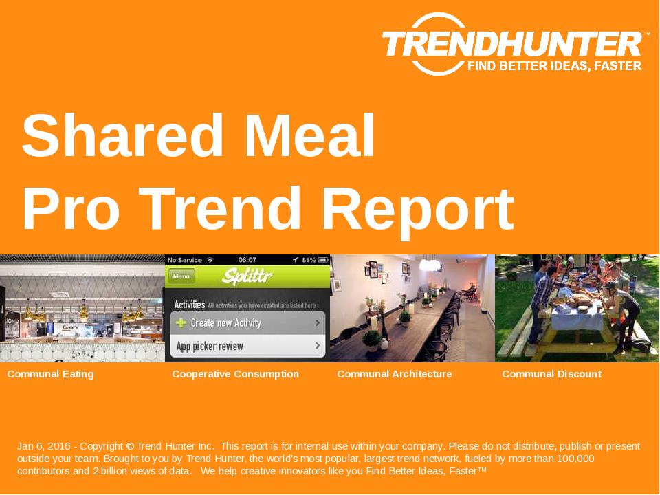 Shared Meal Trend Report Research