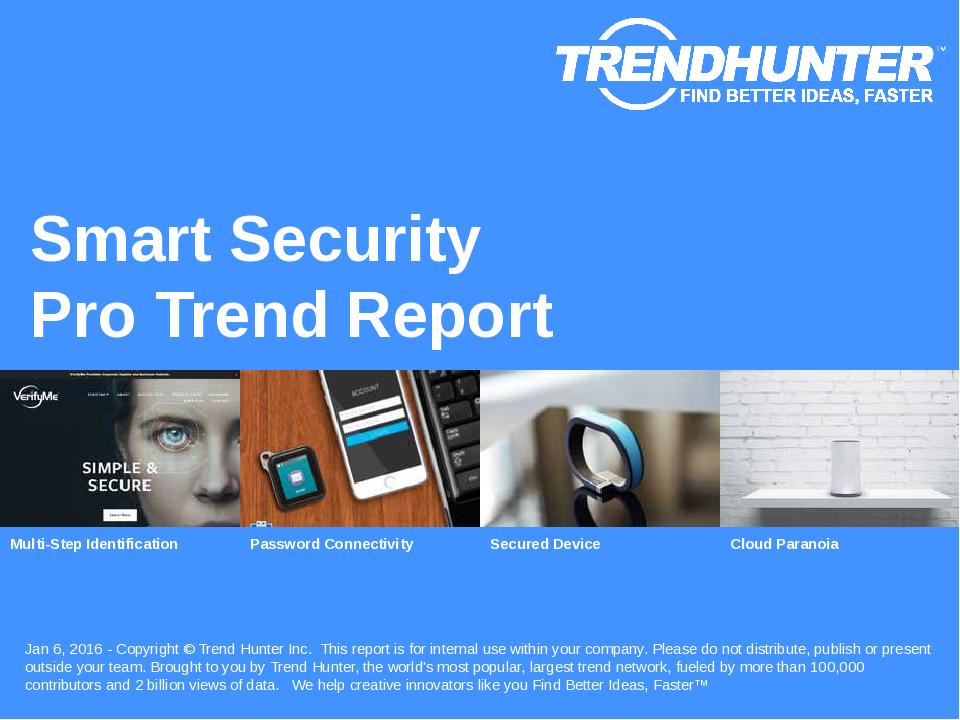 Smart Security Trend Report Research