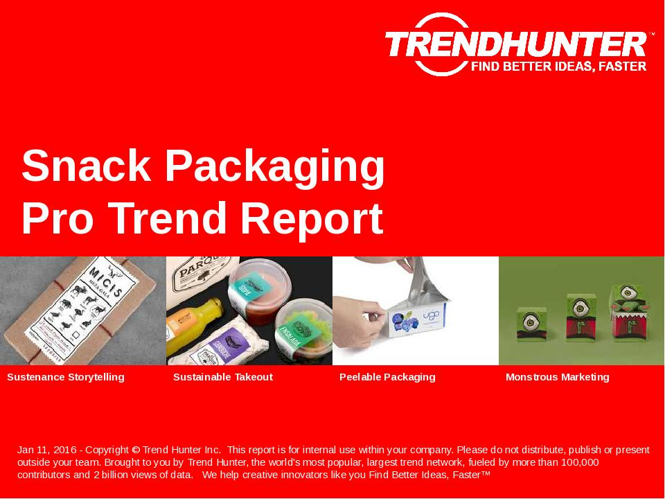 Snack Packaging Trend Report Research