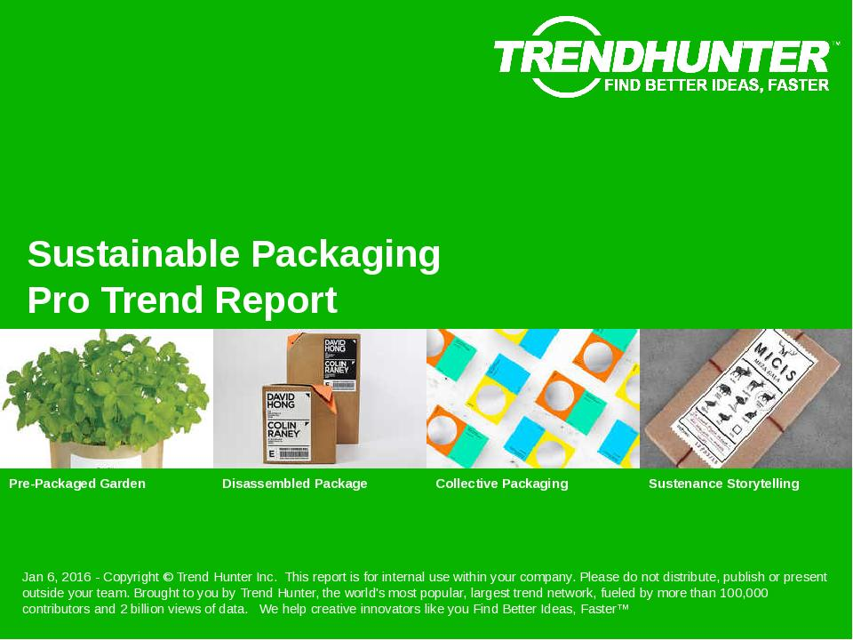 Sustainable Packaging Trend Report Research