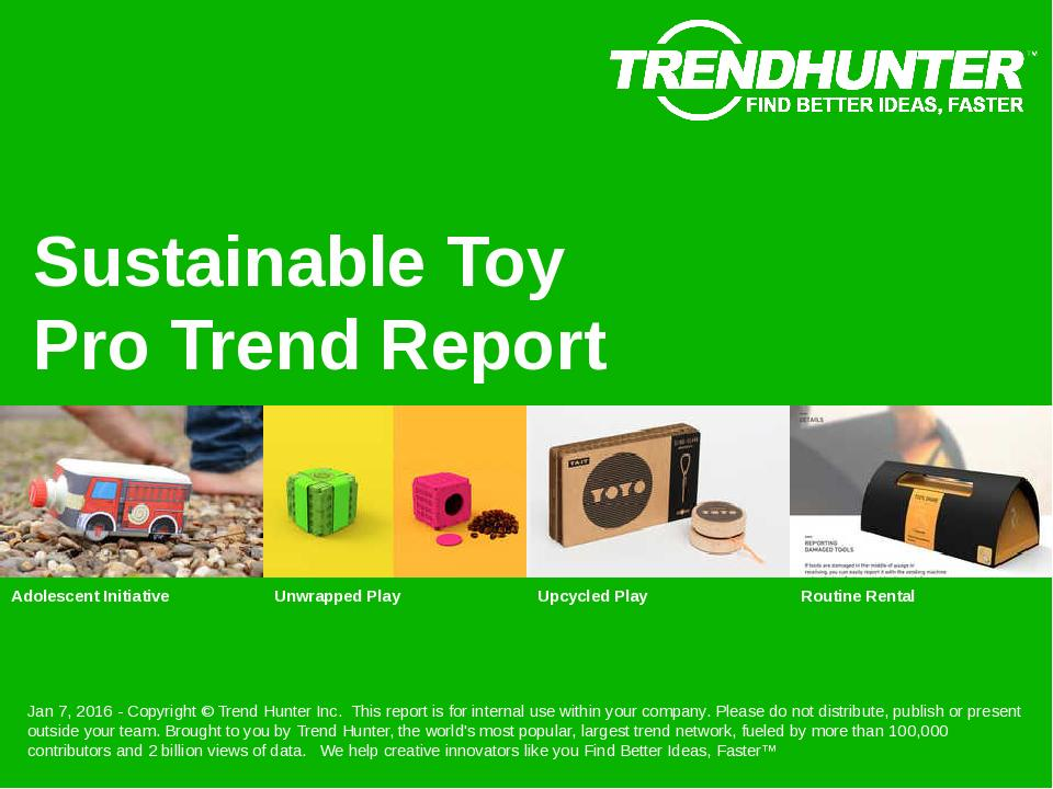 Sustainable Toy Trend Report Research