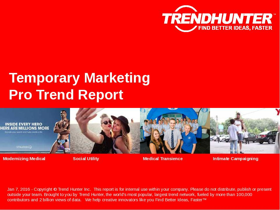 Temporary Marketing Trend Report Research