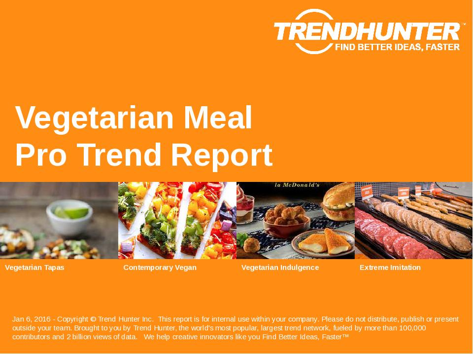 Vegetarian Meal Trend Report Research