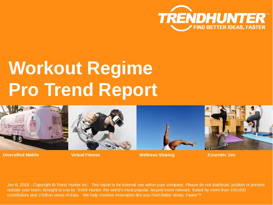 Workout Regime Trend Report Research