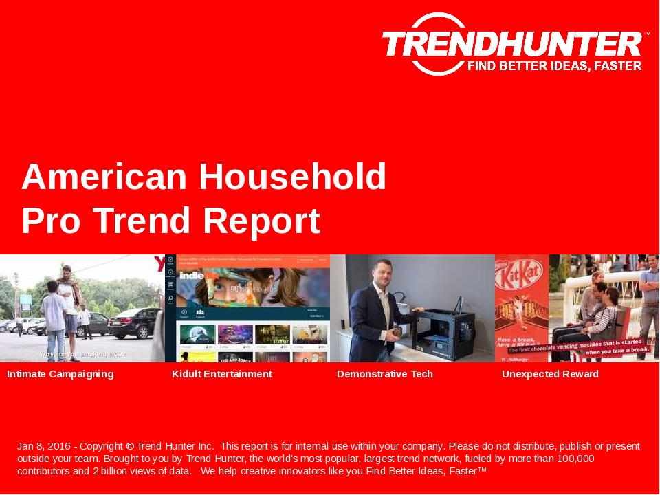American Household Trend Report Research