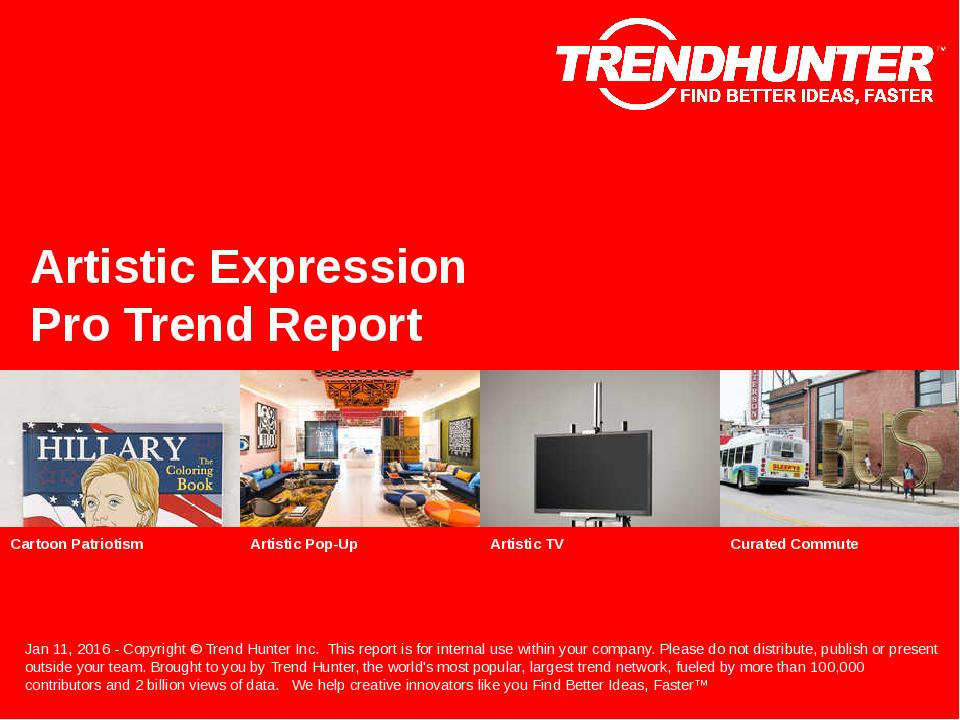 Artistic Expression Trend Report Research