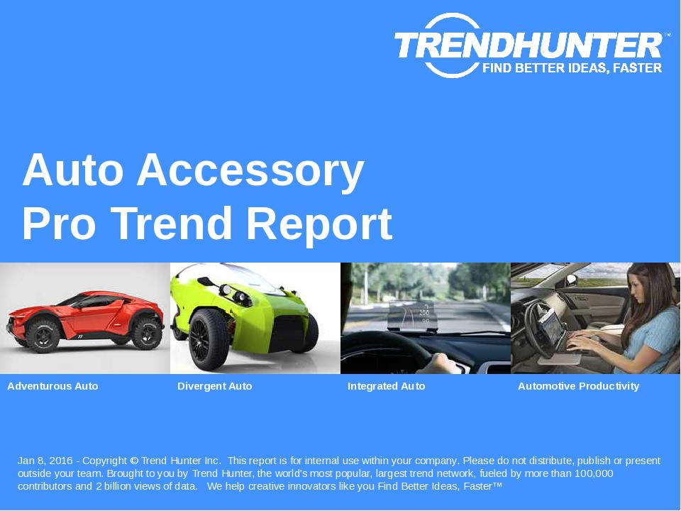 Auto Accessory Trend Report Research