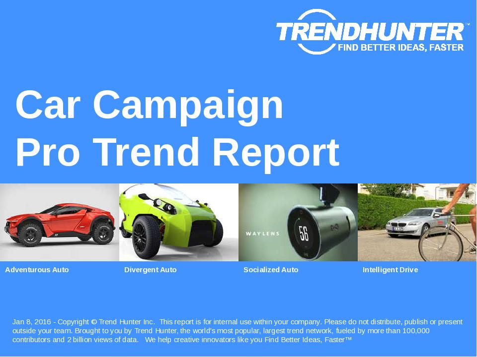 Car Campaign Trend Report Research