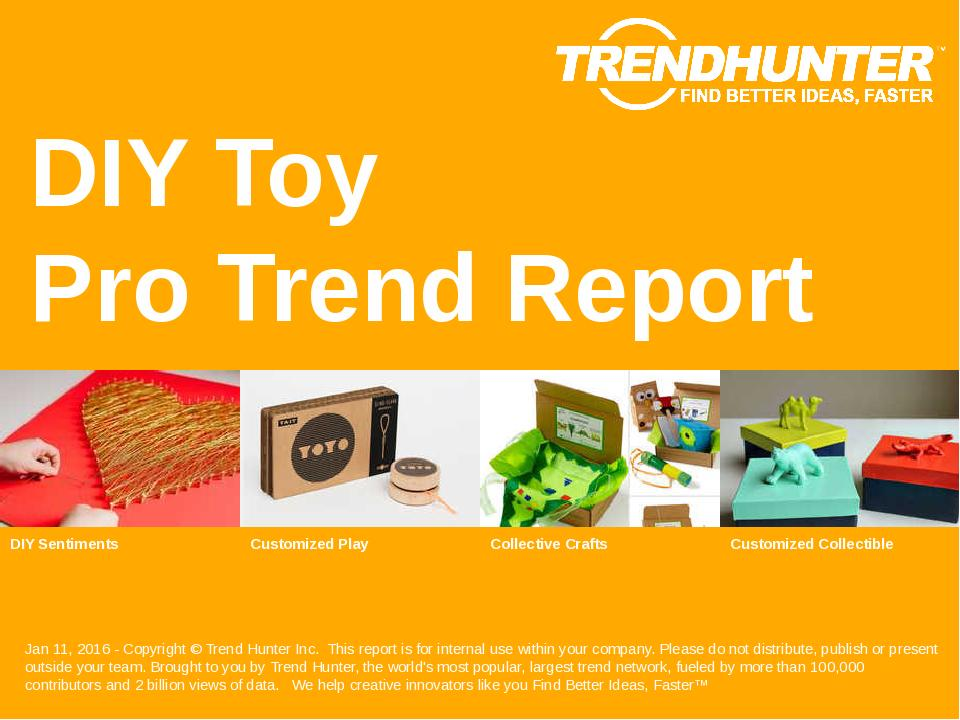 DIY Toy Trend Report Research