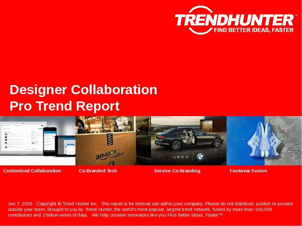 Designer Collaboration Trend Report Research