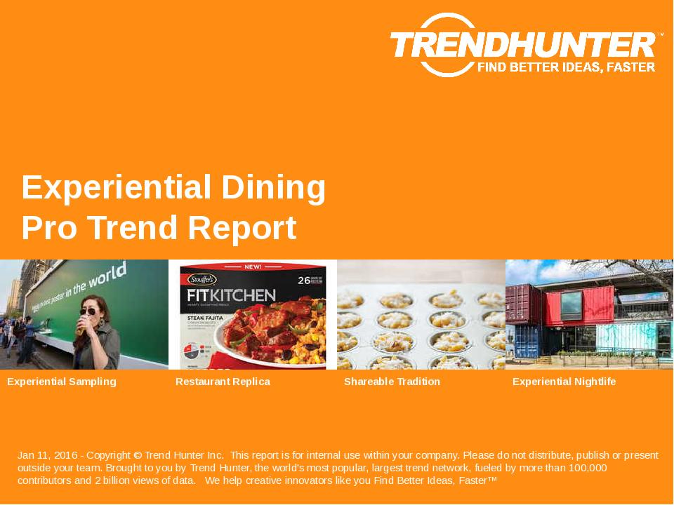 Experiential Dining Trend Report Research