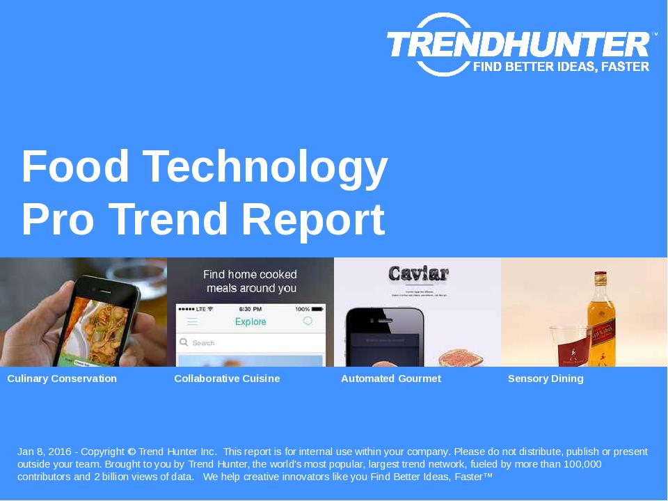 Food Technology Trend Report Research