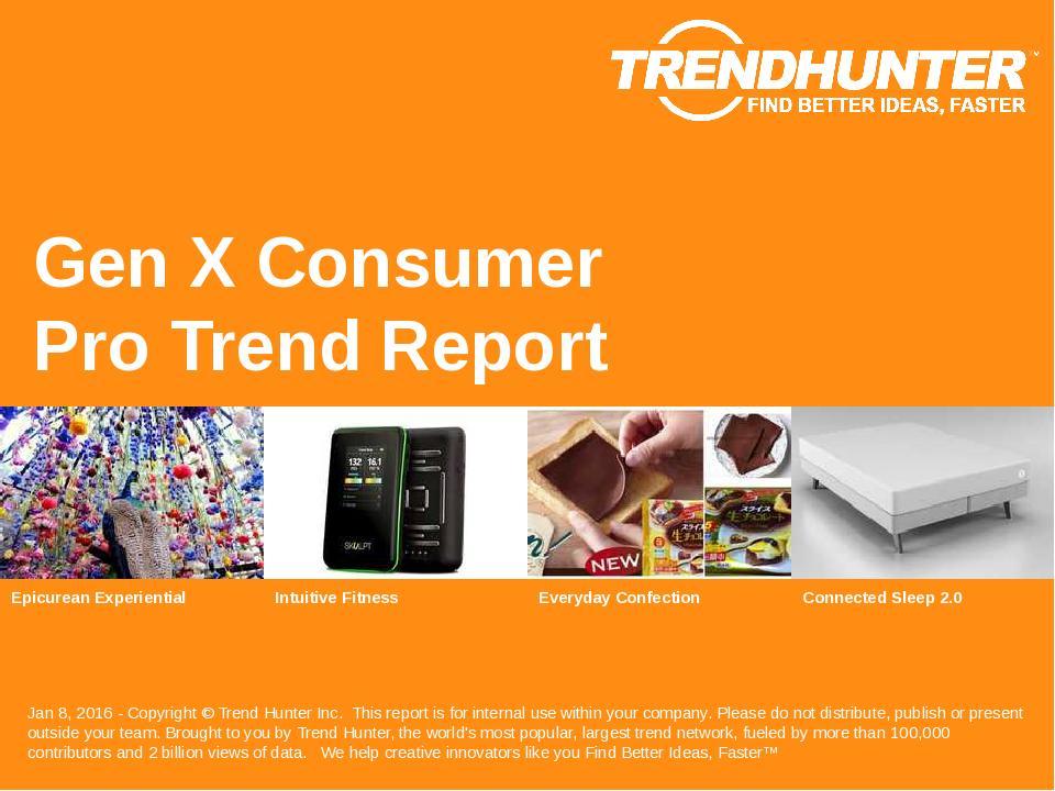 Gen X Consumer Trend Report Research