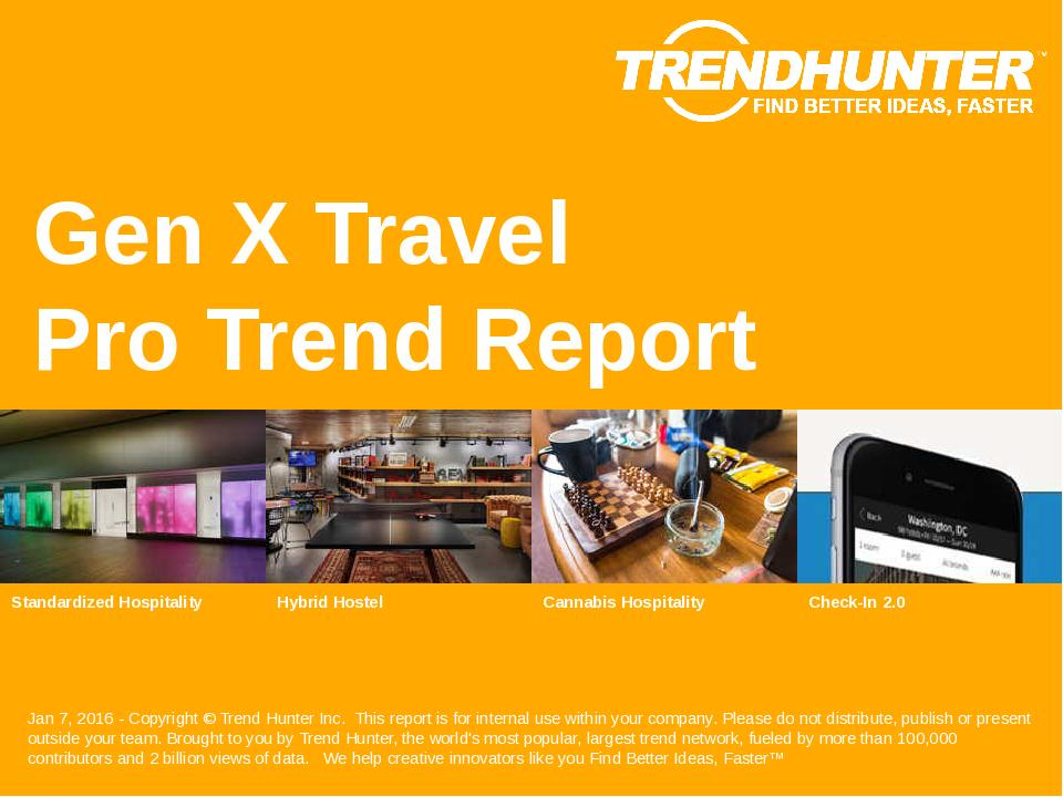 Gen X Travel Trend Report Research