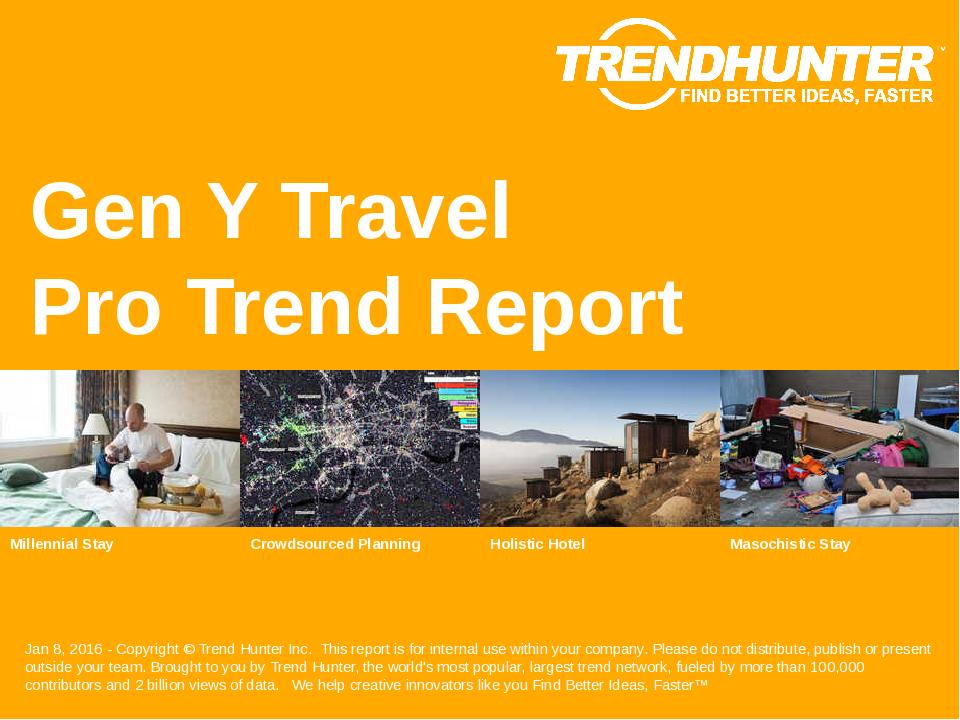 Gen Y Travel Trend Report Research