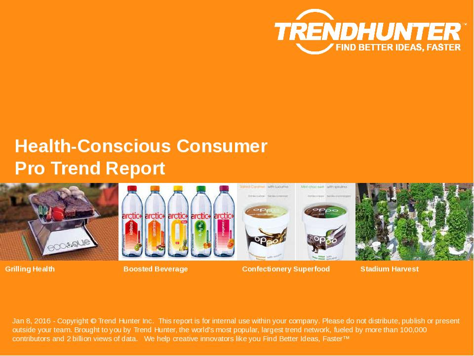 Health-Conscious Consumer Trend Report Research