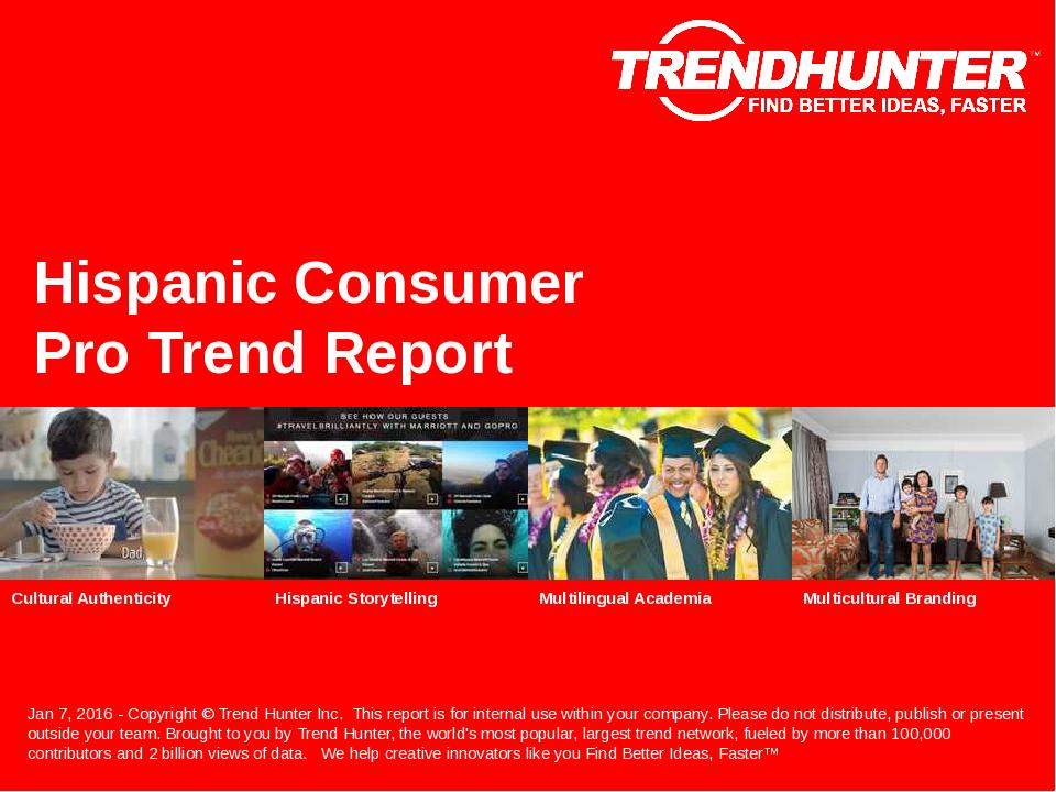 Hispanic Consumer Trend Report Research