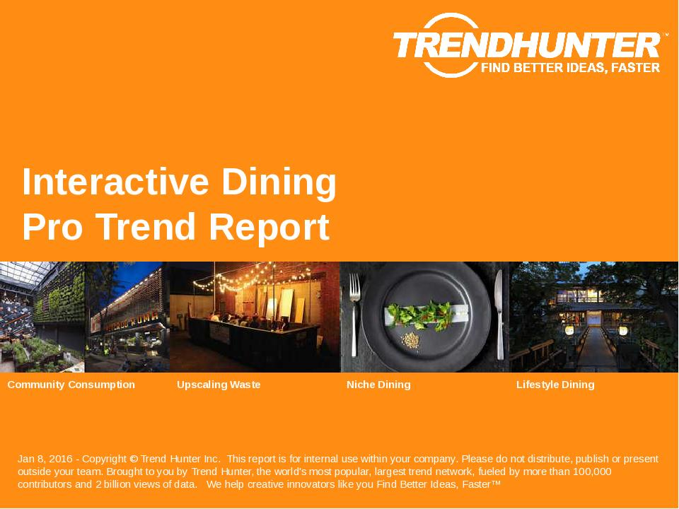 Interactive Dining Trend Report Research