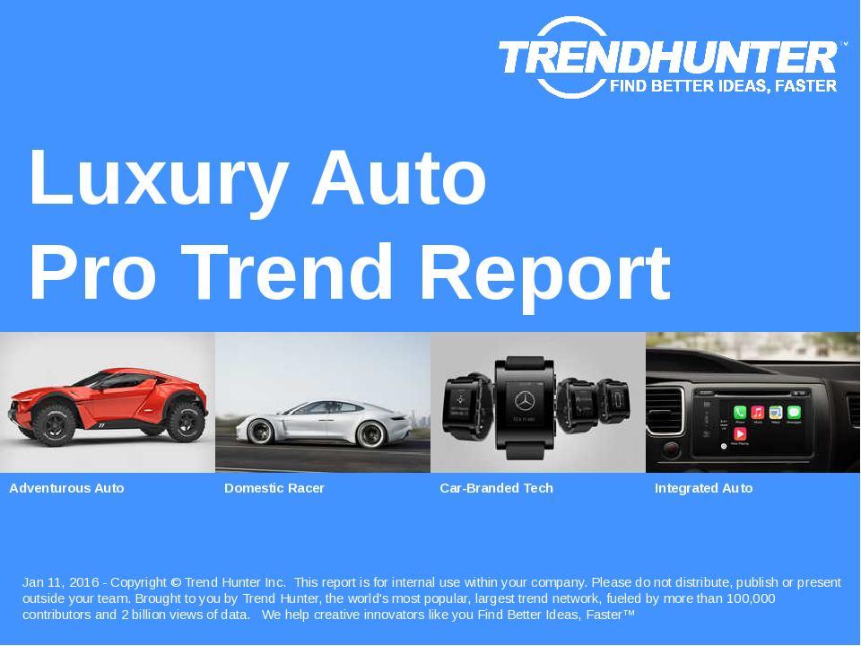 Luxury Auto Trend Report Research