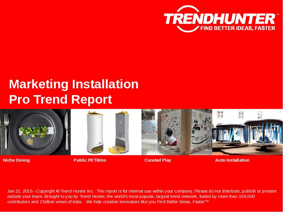 Marketing Installation Trend Report Research