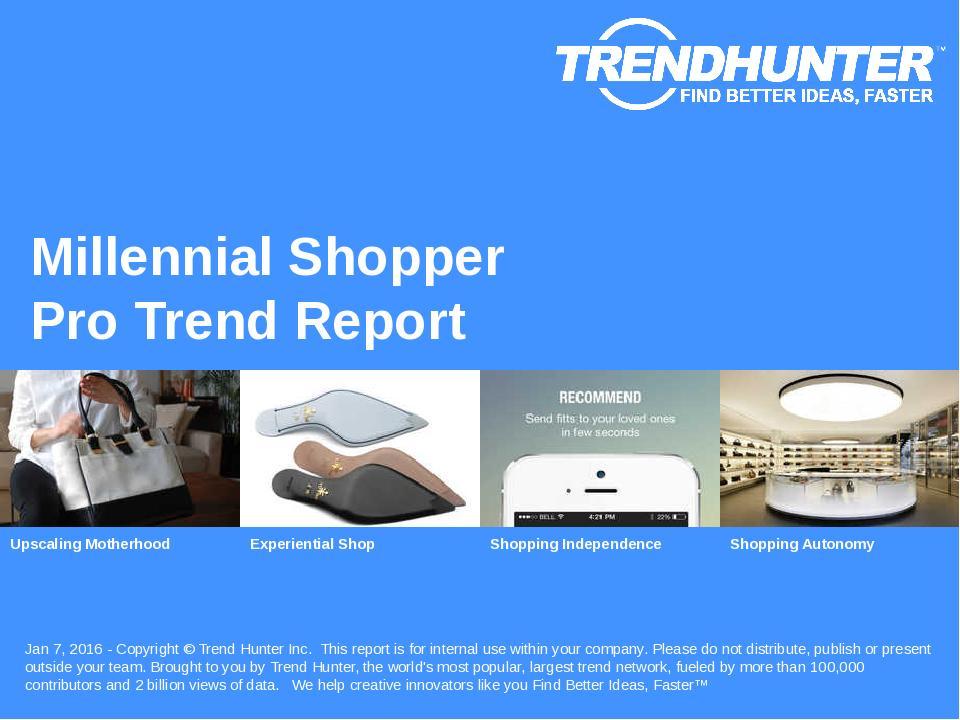 Millennial Shopper Trend Report Research