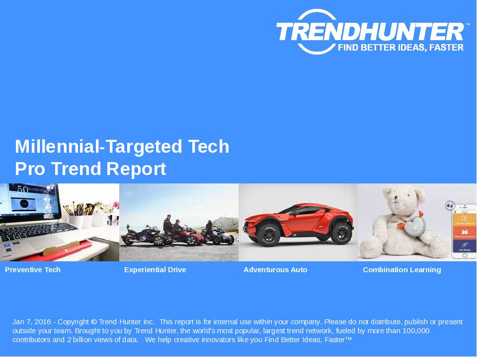 Millennial-Targeted Tech Trend Report Research