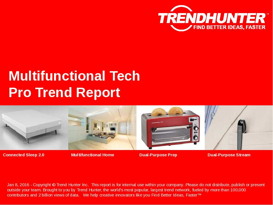 Multifunctional Tech Trend Report Research