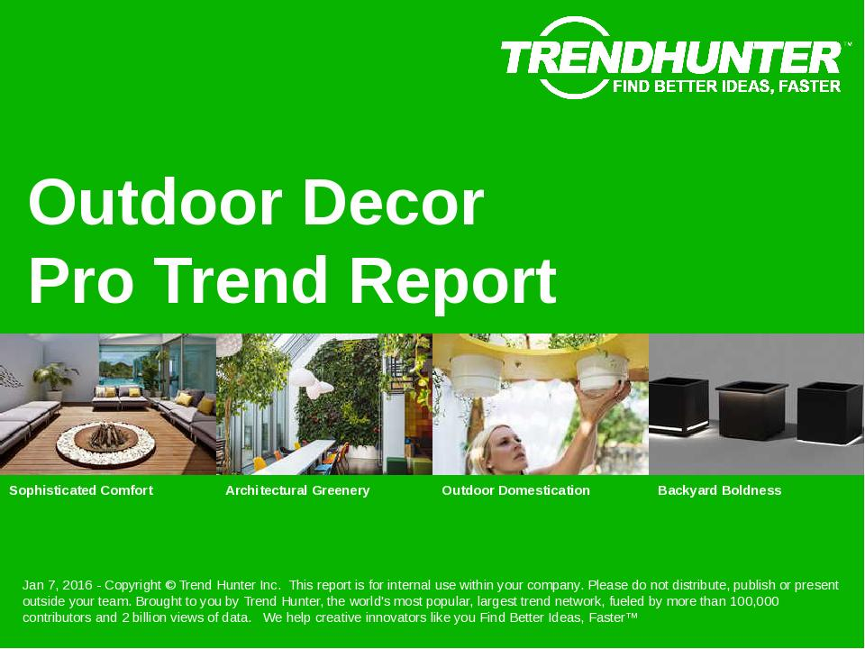 Outdoor Decor Trend Report Research