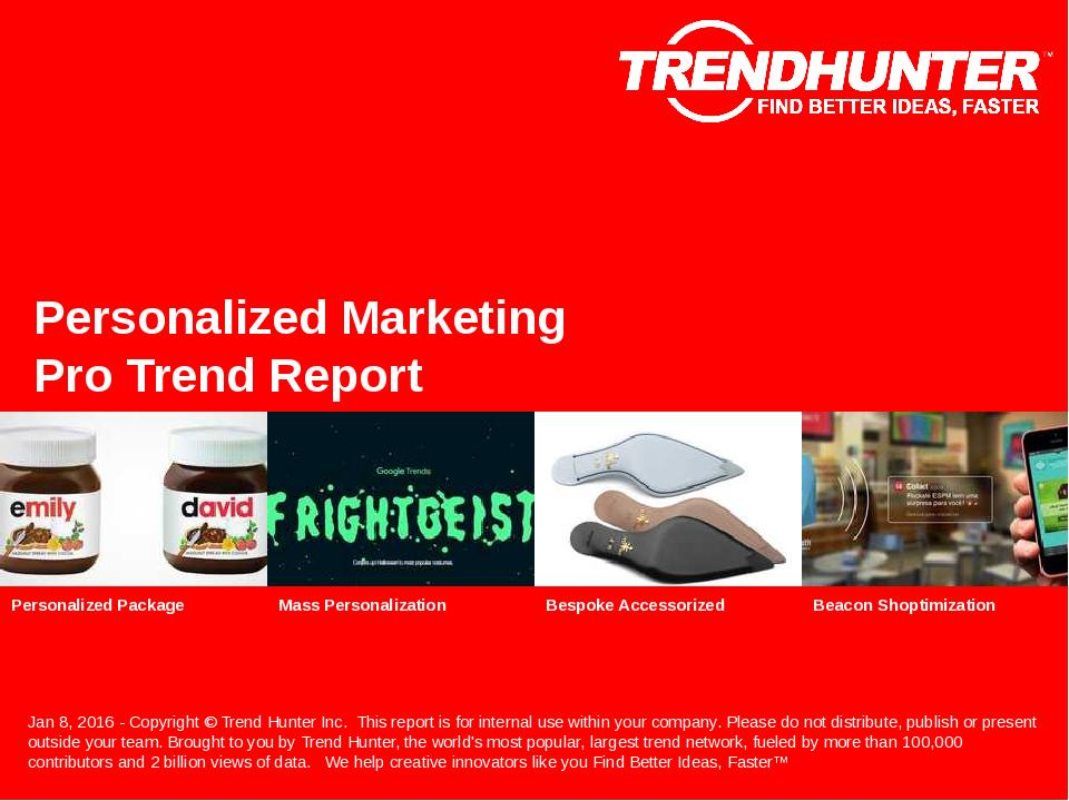 Personalized Marketing Trend Report Research