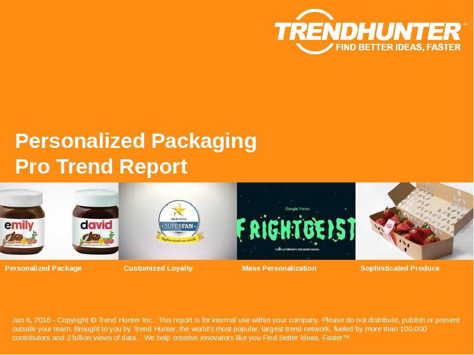 Personalized Packaging Trend Report Research