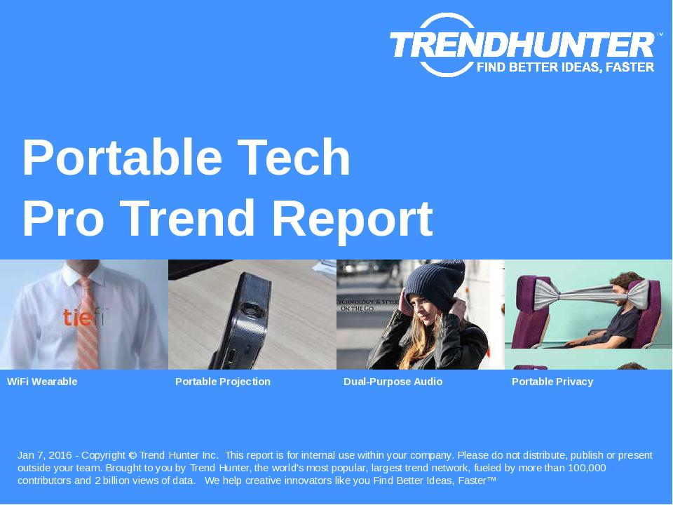 Portable Tech Trend Report Research
