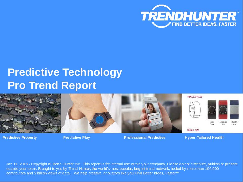 Predictive Technology Trend Report Research