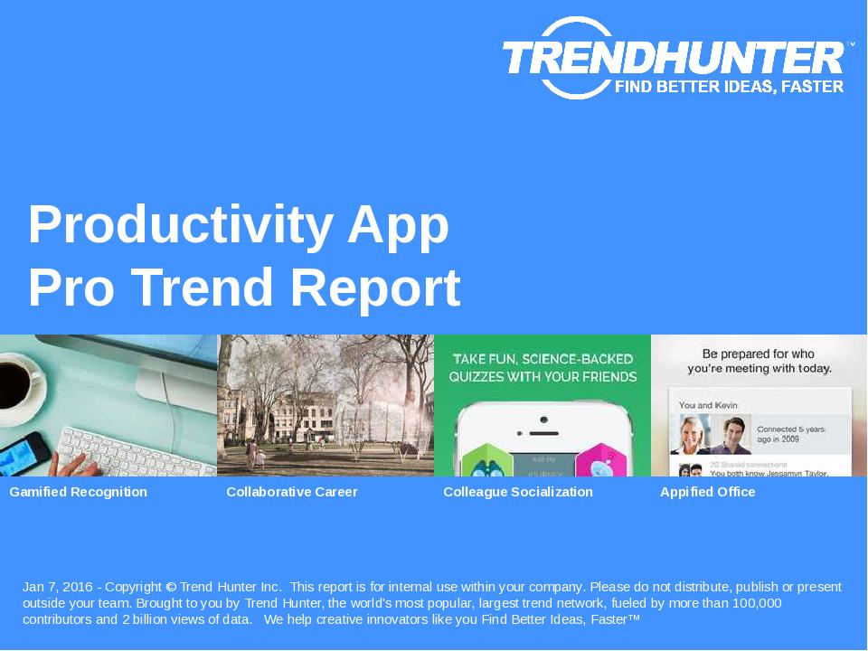Productivity App Trend Report Research