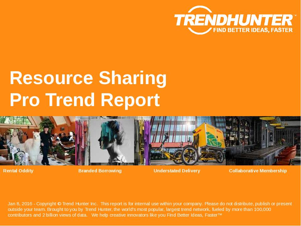 Resource Sharing Trend Report Research