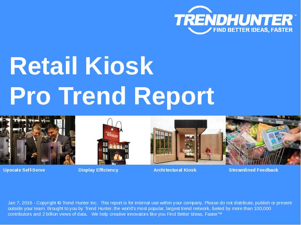 Retail Kiosk Trend Report Research
