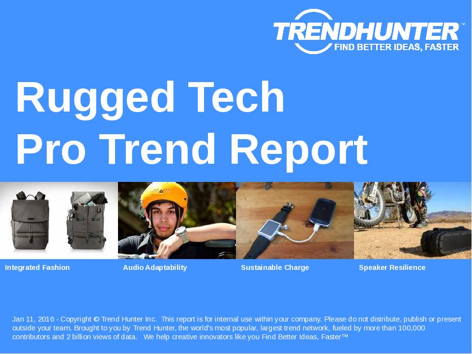 Rugged Tech Trend Report Research