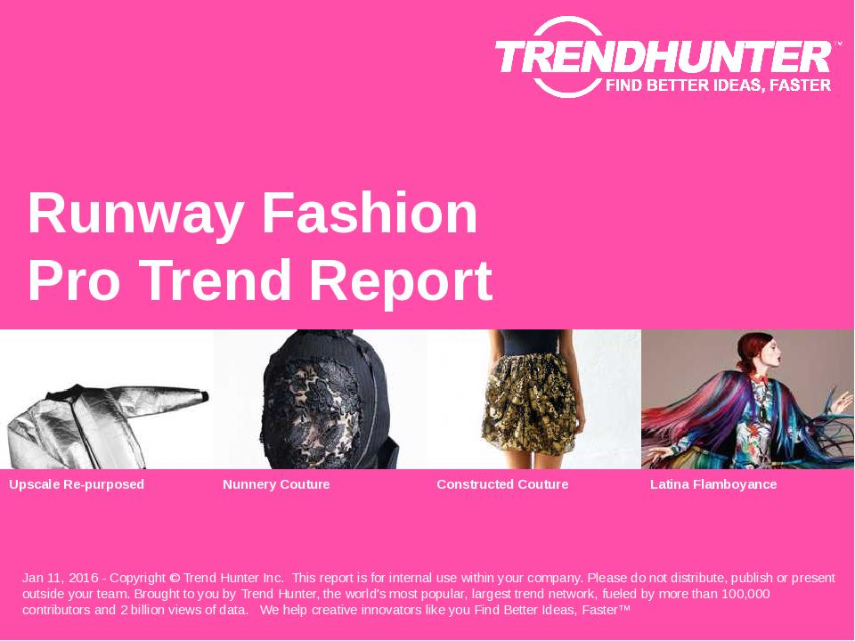 Runway Fashion Trend Report Research