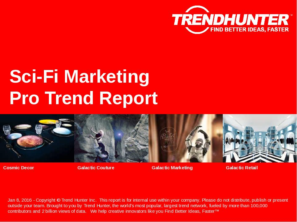 Sci-Fi Marketing Trend Report Research