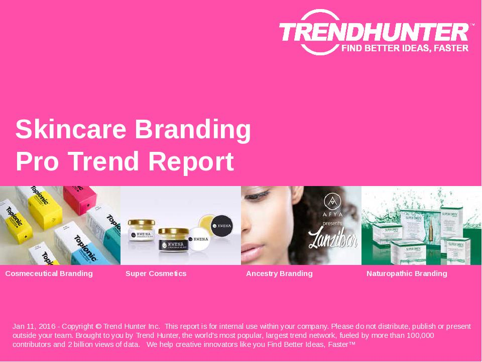 Skincare Branding Trend Report Research