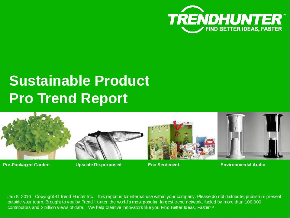 Sustainable Product Trend Report Research