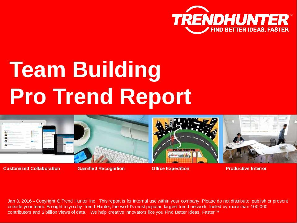 Team Building Trend Report Research