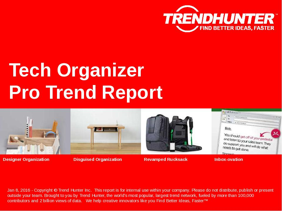 Tech Organizer Trend Report Research