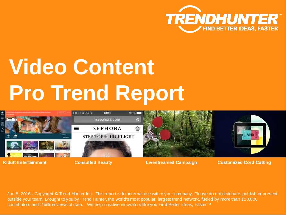 Video Content Trend Report Research