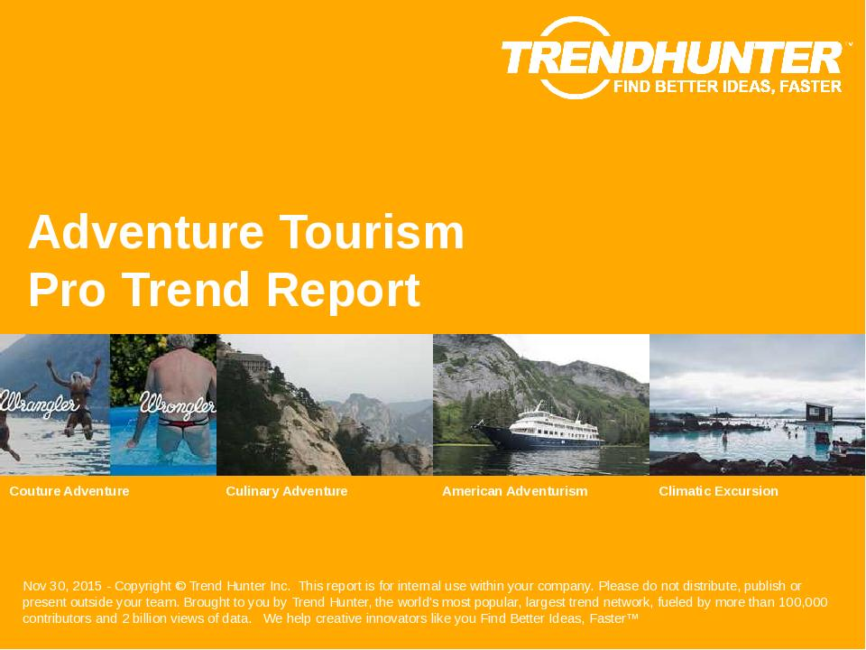 Adventure Tourism Trend Report Research
