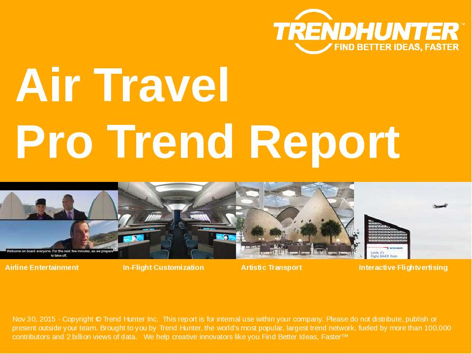 Air Travel Trend Report Research