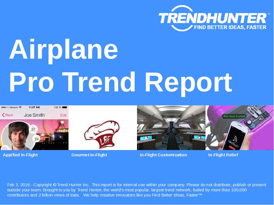 Airplane Trend Report Research
