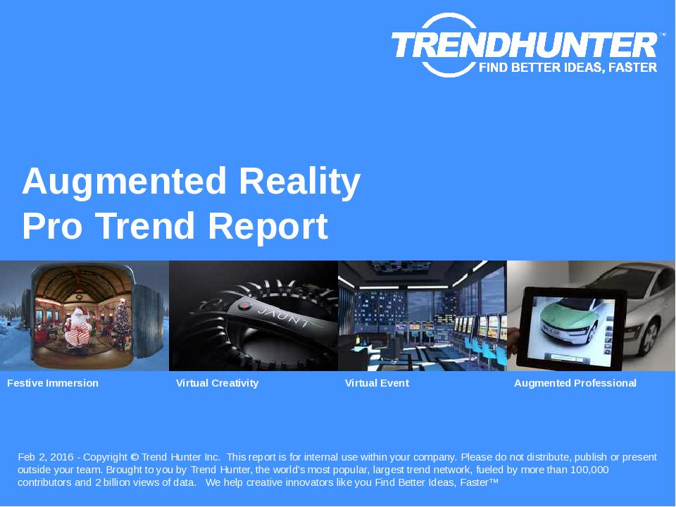 Augmented Reality Trend Report Research