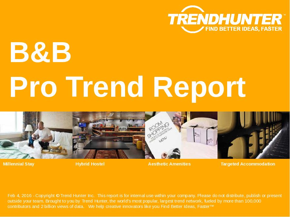 B&B Trend Report Research