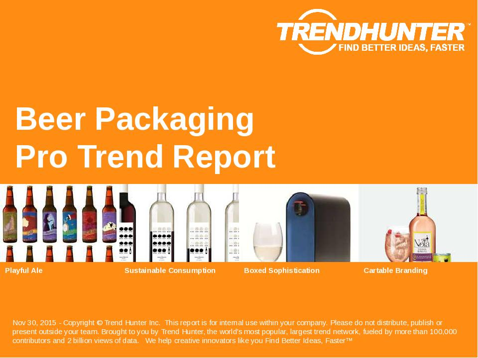 Beer Packaging Trend Report Research