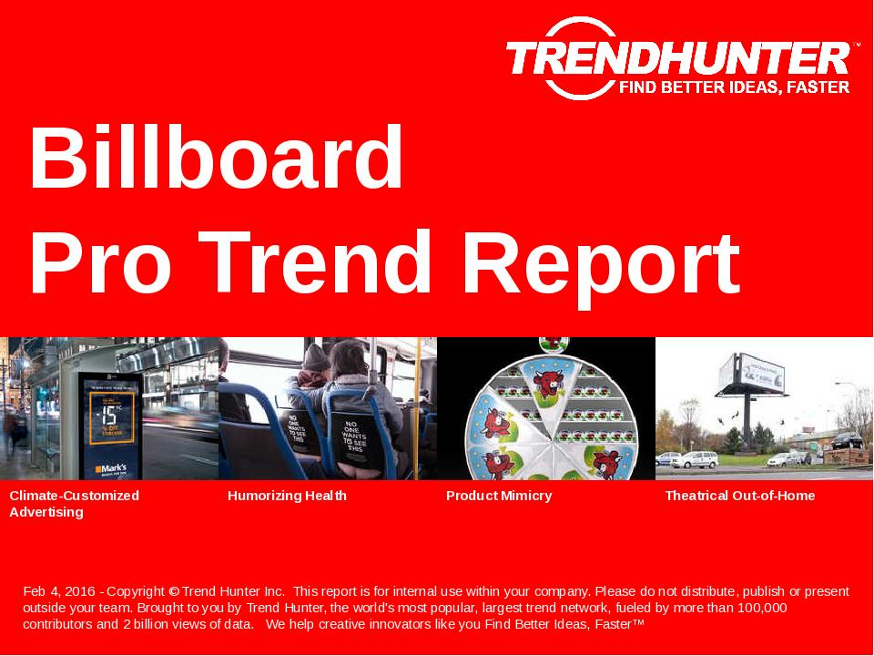 Billboard Trend Report Research